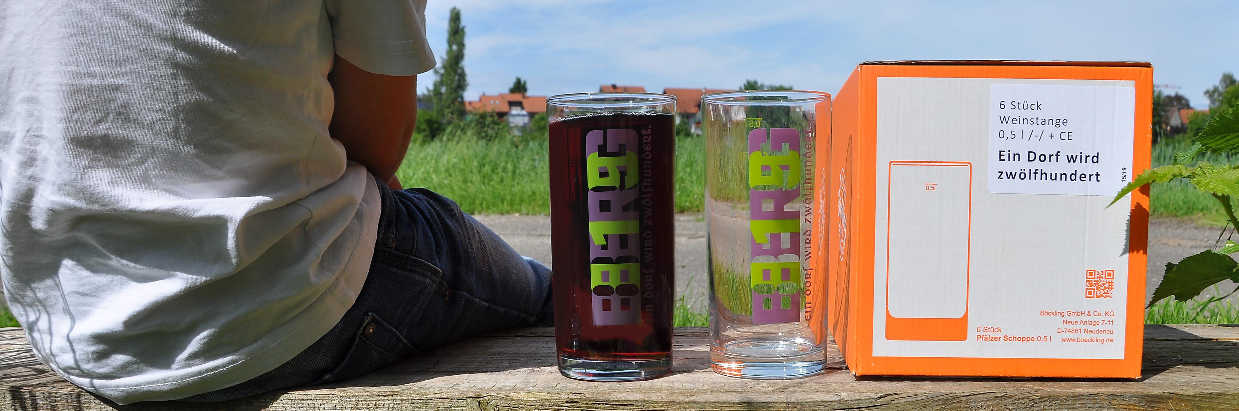 Gläser zur 1200-Jahr-Feier
